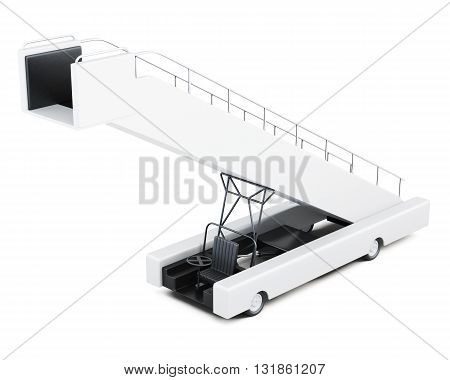 Boarding ramp isolated on a white background. 3d rendering.