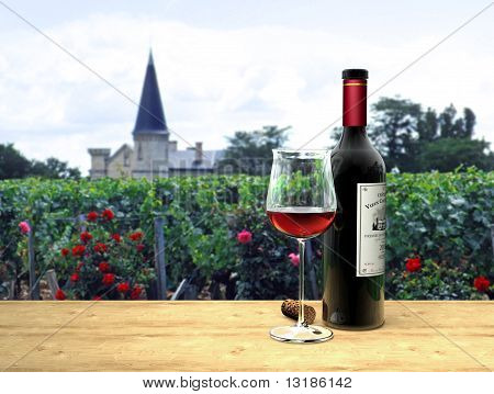 Red Wine in french Médoc