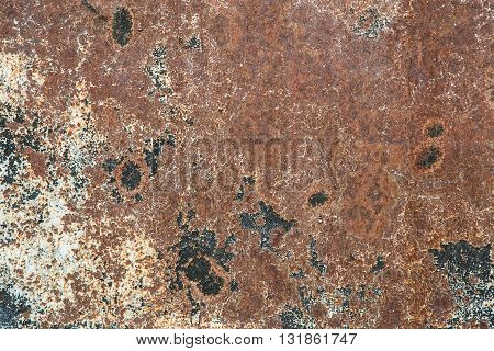Old rusty iron dirty grunge brown abstract texture wall