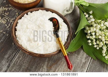 Rice Porridge In A Plate