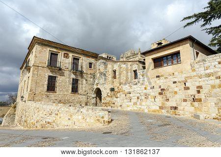 Bishop door view of the door of Olivares in Zamora Castilla y Leon Spain.