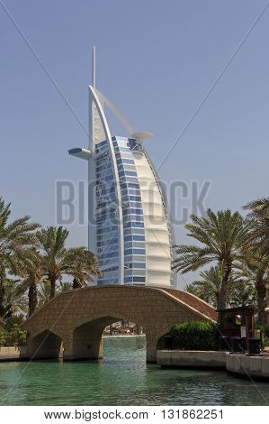 DUBAI, UAE - MAY 14, 2016: Burj Al Arab hotel in Dubai