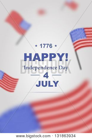 Poster for Independence Day 4th of July. Happy Independence Day