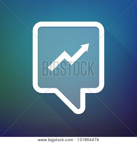 Long Shadow Tooltip Icon On A Gradient Background  With A Graph