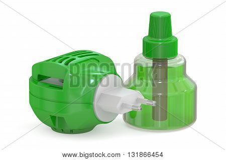 Anti-mosquito fumigator parts 3D rendering isolated on white background