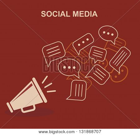 Social media, chatting. Global communication. Vector illustration.