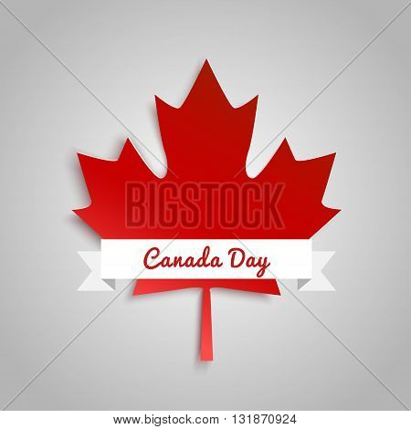 Vector modern stylish illustration. Vector banner for the Internet to the Canada Day with red leaves.