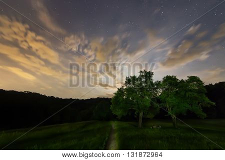 Magic Night, Cloudy night sky, Moon and clouds