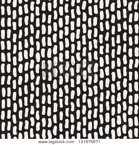 Vector Seamless Black And White Jumble Hand Drawn Lines Pattern Abstract Background