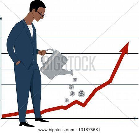 Investing in stock market, EPS8 vector illustration