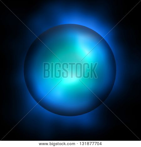Isolated abstract plasma ball sphere dark background