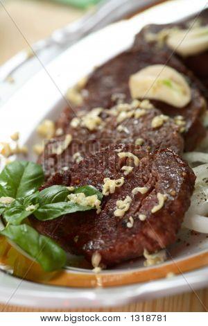 Pork Steak With Garlic