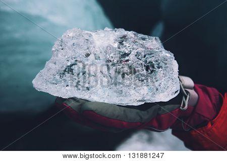 Ice. This photo was taken at Solheimajokull glacier, Iceland.