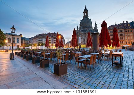 Neumarkt square in the old town of Dresden, Germany.