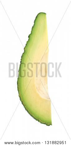 Piece of fresh avocado isolated on white