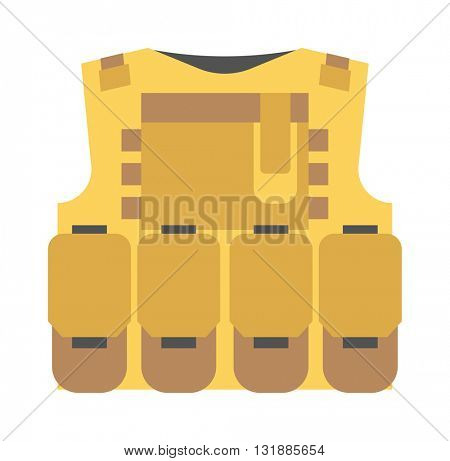 Bulletproof vest vector isolated