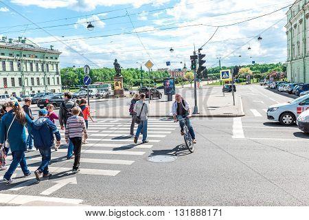 Road Traffic In St.petersburg
