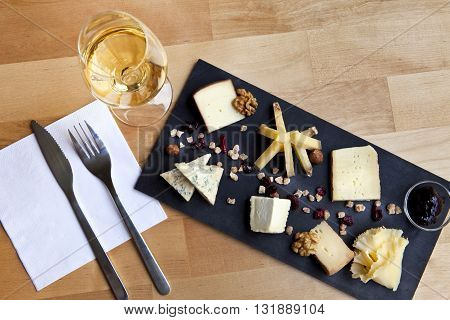 Plate Of Various Cheese