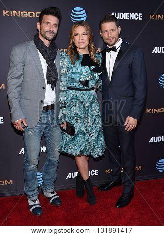 LOS ANGELES - MAY 25:  Frank Grillo, Kiele Sanchez & Matt Lauria arrives to the