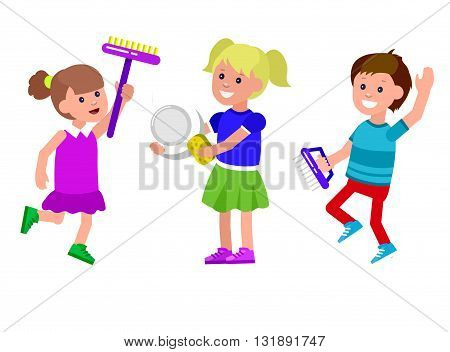 Cute vector character child. Cheerful child. Happy kid illustration. Detailed character child. Vector for Celebration children day, fun child.