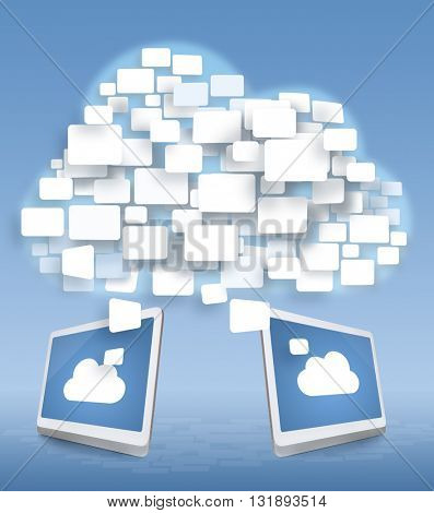 Cloud storage and new technology concept