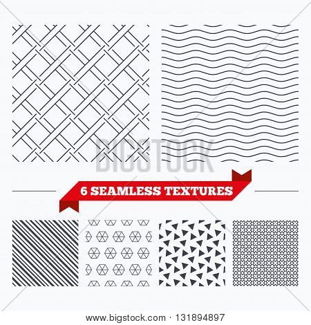 Diagonal lines, waves and geometry design. Braided grid texture. Stripped geometric seamless pattern. Modern repeating stylish texture. Material patterns.