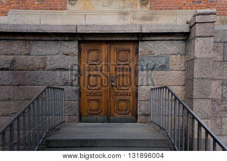 Closeup photo of a unique door entrance