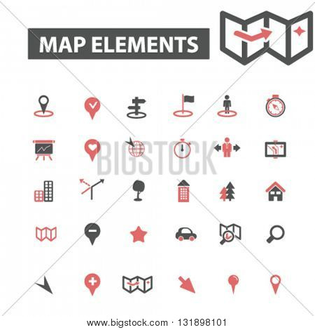 map elements icons