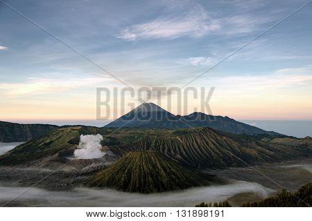 Volcanic Landscape of Mount Bromo in Indonesia, Java