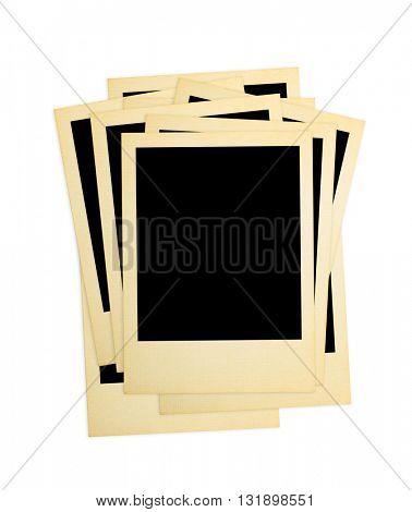 Retro photo cards isolated on white background