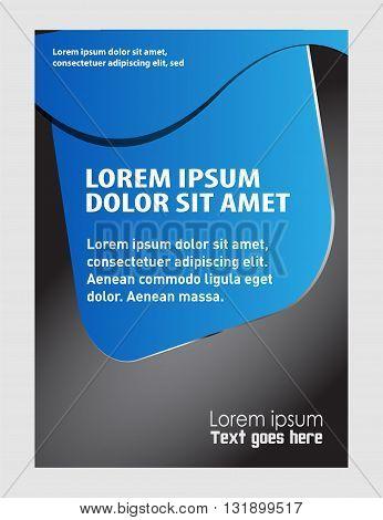 Presentation of flyer design content background. editable vector illustration