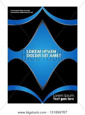 Flyer booklet template design catalog brochure folder