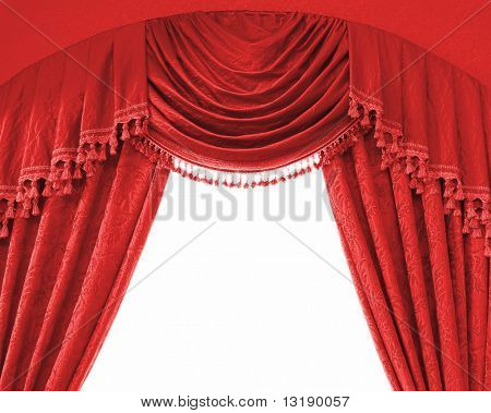 Luxury curtains with free space in the middle