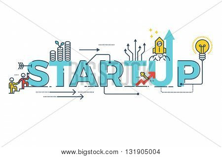 Business Startup Word Design