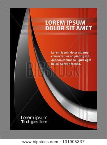 Abstract Flyer or Cover Design background with place for text