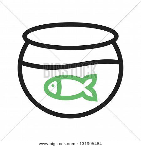 Fish, tank, water icon vector image. Can also be used for pet shop. Suitable for use on web apps, mobile apps and print media.
