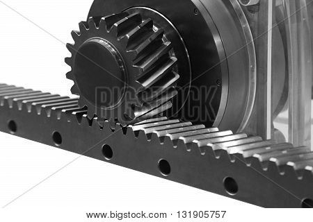 Gear wheel transmits energy flat has a rack