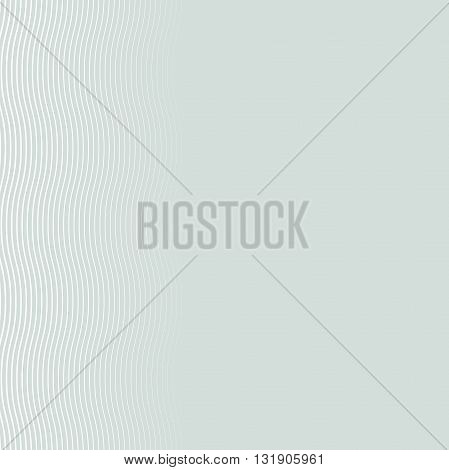 Seamless ornament. Modern geometric light blue pattern with repeating white waves