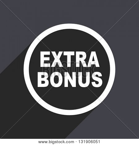 Extra bonus icon. Flat design vector button. Web and mobile app design illustration