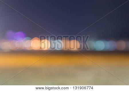 blur light at the beach in PhuketThailand