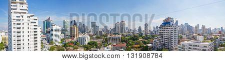 panorama high view of city in Bangkok