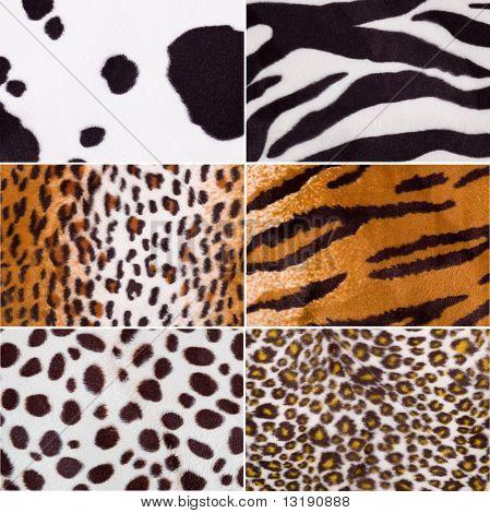 Tierhaut Stoff Texturen