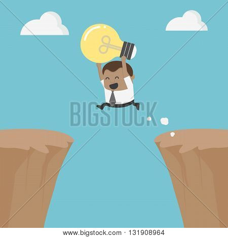 successful businessman with an idea. illustration vector eps .10