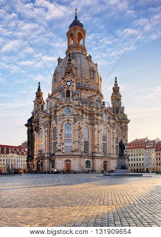 Frauenkirche in Dresden Germany at a day