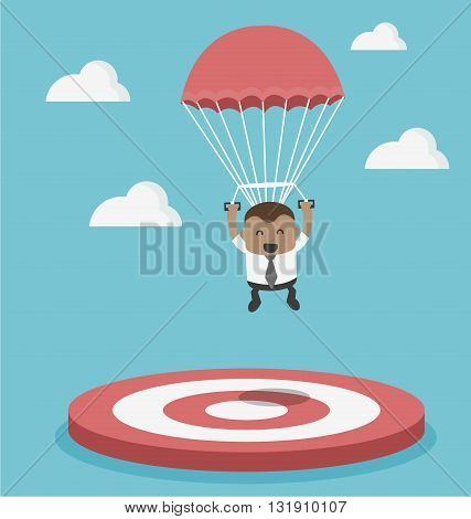 Businessman focused on a target illustration vector eps .10
