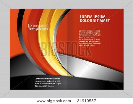 Stylish presentation of business poster, magazine cover, design layout template. Brochure or flyer