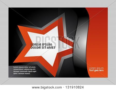 Bi-Fold Brochure Design. Corporate Leaflet, Cover Template