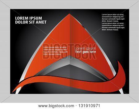 Vector Abstract template brochure design. Vector orange brochure template design