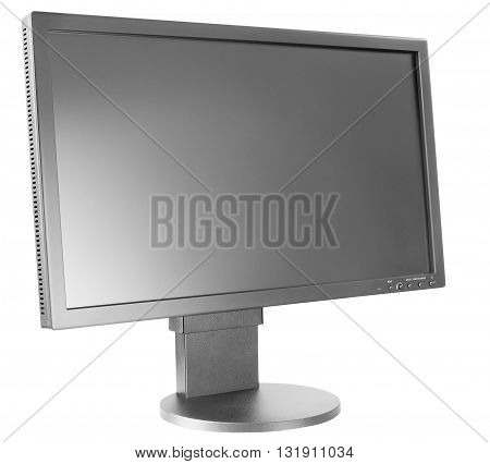 Large computer LCD monitor isolated on the white background