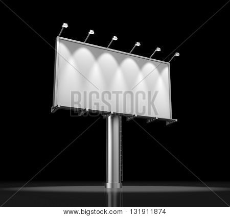Blank billboard for advertisement. 3d illustration